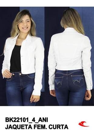 Jaqueta branca casaco branco curta jaquinho