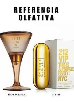 Perfume traduções gold nº 63 spot for her ref 212 vip -75 ml