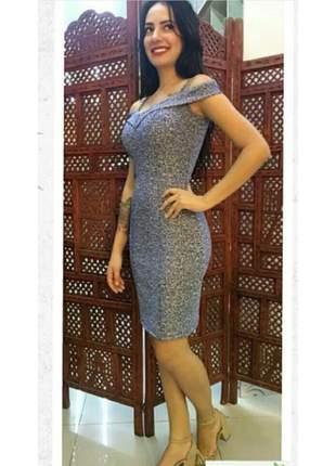 Vestido midi social convidadas festa moda evangélica blogueira elegante jacquard