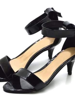 Sandália salto fino baixo fandarello 180173 preto