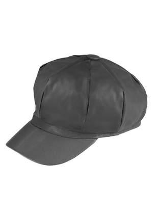 Boina gorro chapeu cap feminina couro com forro ref:259 (cinza-escuro)