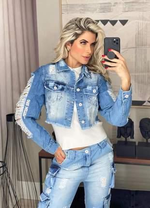 Conjunto calça + jaqueta jeans