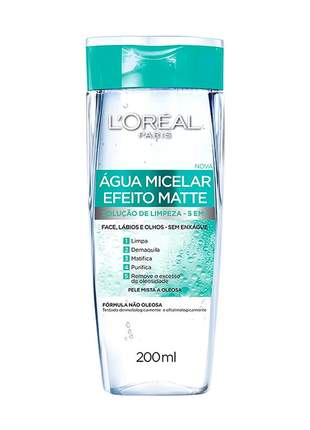 Água micelar efeito matte incolor l'oréal paris 200ml