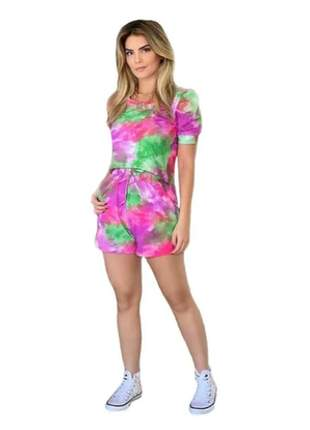 Conjunto tie dye short blusa julianni