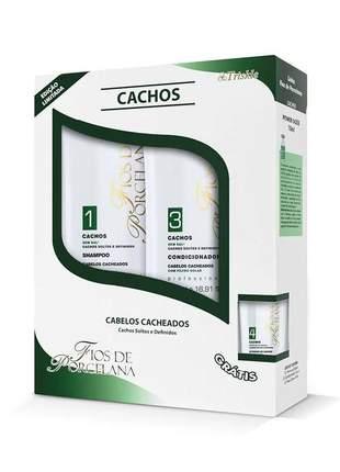 Kit triskle cachos shampoo + condicionador fios de porcelana 500ml