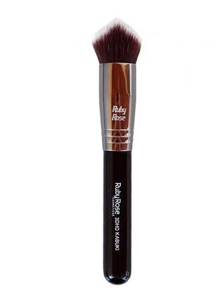 Pincel maquiagem para base - 3dhd kabuki ruby rose