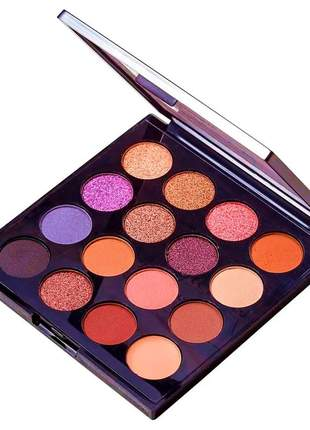 Kit de sombras ruby rose the flowers 15 sombras e 1 primer