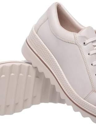 Tenis feminino em couro 3901 off white