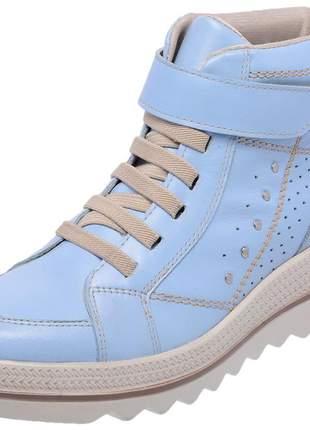 Tenis feminino em couro 3907 azul