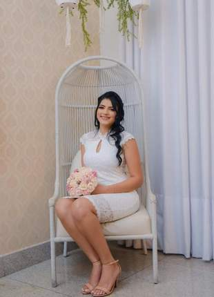 Vestido midi festa casamento civil noivado batizado branco off |luiza|,rose| rosa|preto