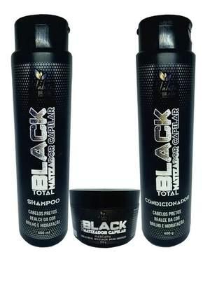 Kit capilar matizador black preto habito cosmeticos