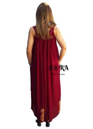 Vestido indiano longo bordado