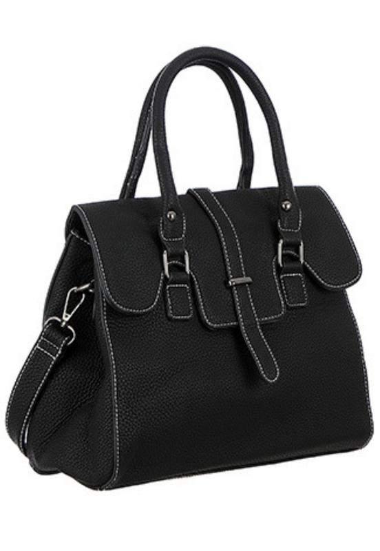 93d1ecd5f ... Bolsa feminina com alça de mão e transversal texturizada preta3 ...