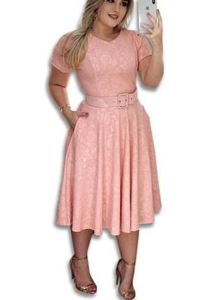 Vestido midi boneca moda evangélica