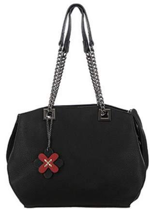 Bolsa sacola alça ombro de corrente e tiracolo preto