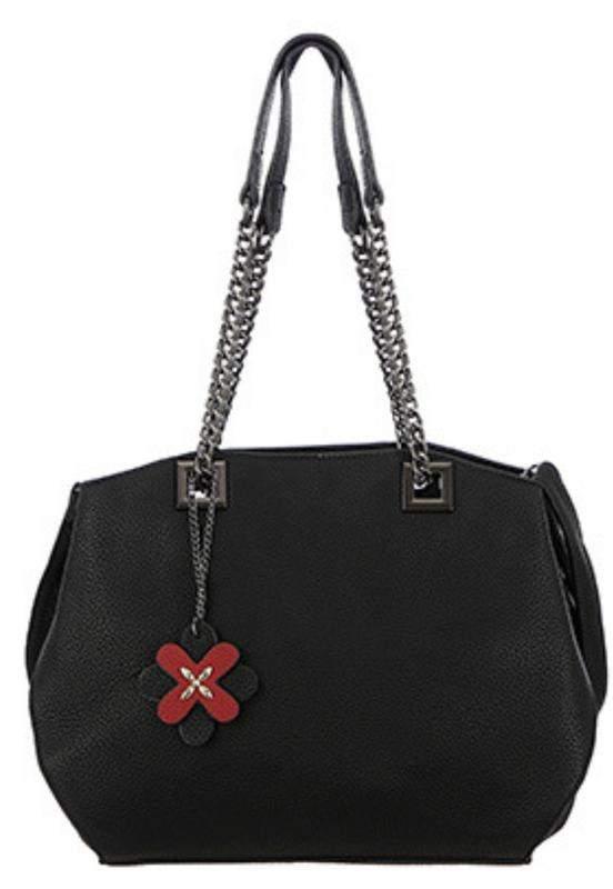 42d405242 Bolsa sacola alça ombro de corrente e tiracolo preto - R$ 79.99 ...