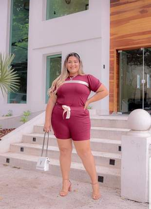 Conjunto de shorts plus size