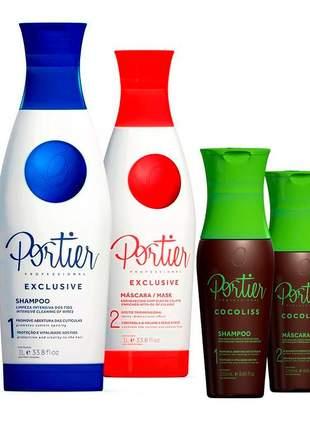 Escova progressiva portier exclusive + portier cocoliss kit duo