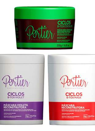 Kit botox violet + botox ciclos mask + portier ciclos botox mask cocoliss
