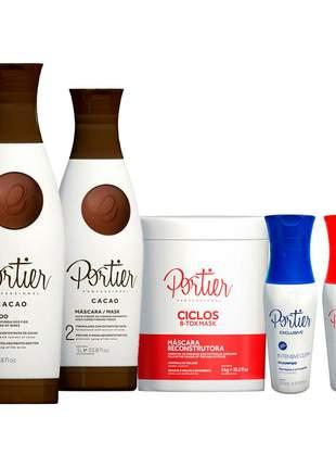 Portier escova progressiva exclusive +botox matizador máscara +portier cacao