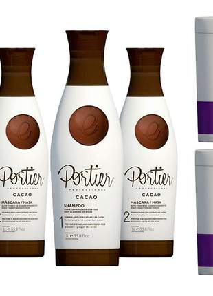 Combo portier cacao thermo smoothing kit duo + botox violet