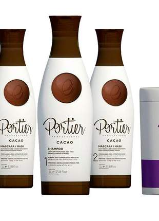 Combo portier 2 progressiva portier cacao + botox matizador violet