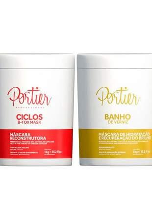 Kit portier botox ciclos mask + máscara de hidratação banho de verniz