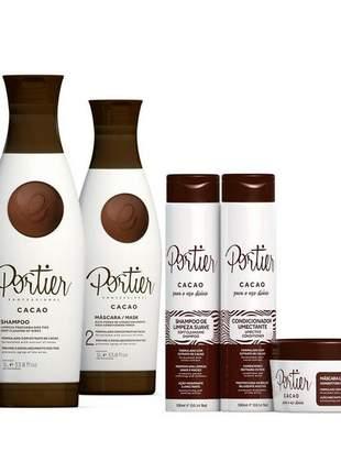Kit portier cacao + portier cacao uso diário (5 itens)