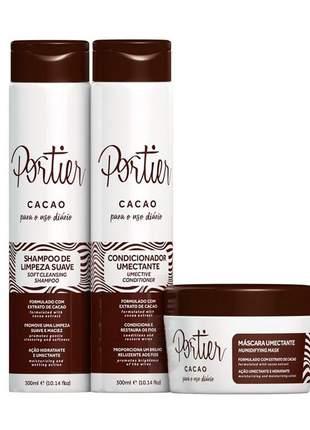 Kit uso diário completo portier cacao ( 3 itens )