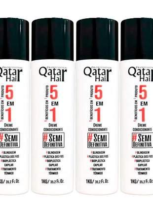 Combo escova progressiva qatar troia hair ( 4 itens )