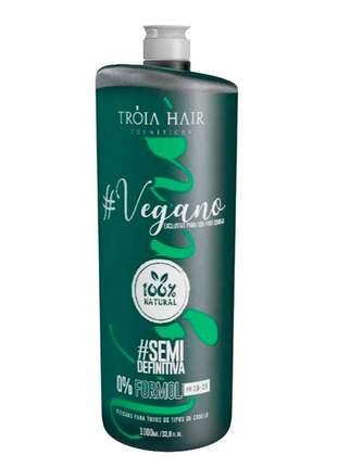 Escova semi definitiva vegana tróia hair 1000ml