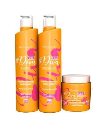 Kit s.o.s diva tróia hair 500ml