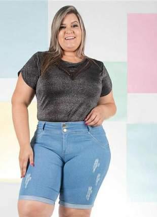 Bermuda básica modelo jeans escura