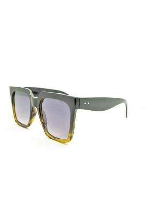 Óculos de sol feminino color people marrom degradê + estojo