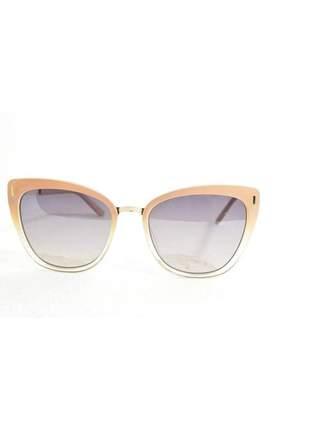 Óculos de sol feminino color people b88 nude + estojo brinde
