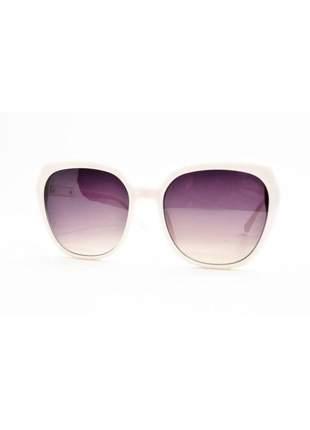 Óculos de sol feminino color people jx8000 branco + estojo