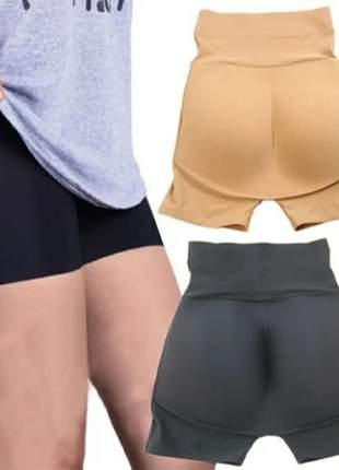 Cinta shorts enchimento bumbum corte a laser