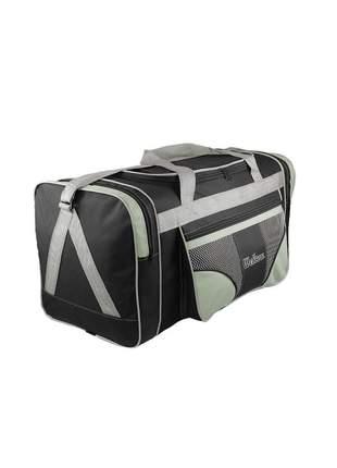 Bolsa mala de viagem grande 112l alças de mão e ombro r:1022 (preto/verde-claro)