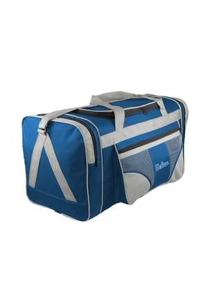 Bolsa mala de viagem grande 112l alças de mão e ombro r:1022 (azul/verde-claro)