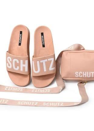 Compartilhar:  chinelo slide feminino schutz + bolsa porta celular -nude