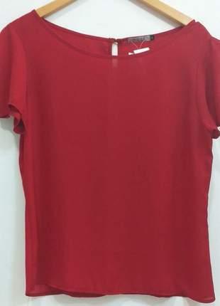 Blusa crepe de malha vermelha