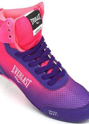 Tênis feminino everlast forceknit rosa e roxo