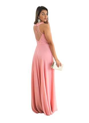 Vestido longo rosa festa madrinha de casamento gestante bodas formaturas noiva eventos