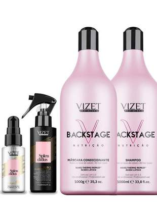 Kit backstage nutrição + splendidus 11 in 1 + oil vizet
