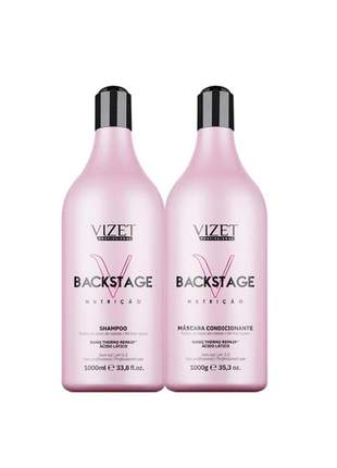 Kit backstage nutrição shampoo + máscara vizet 2lt