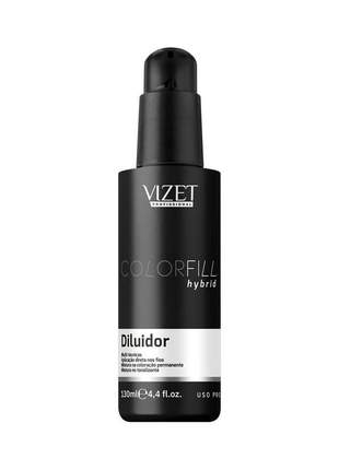 Coloração híbrida colorfill hybrid diluidor vizet 130ml