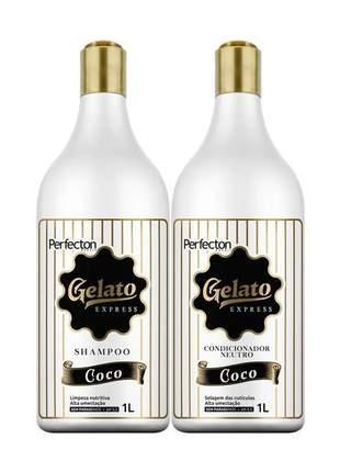 Kit gelato coco profissional vizet 1l