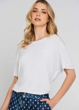 Blusa ralm ampla- off white