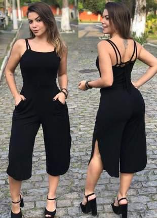 Macacao pantacourt preto