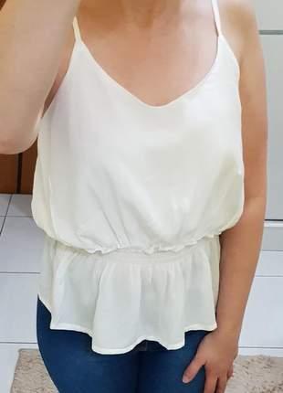 Blusa alcinha viscose